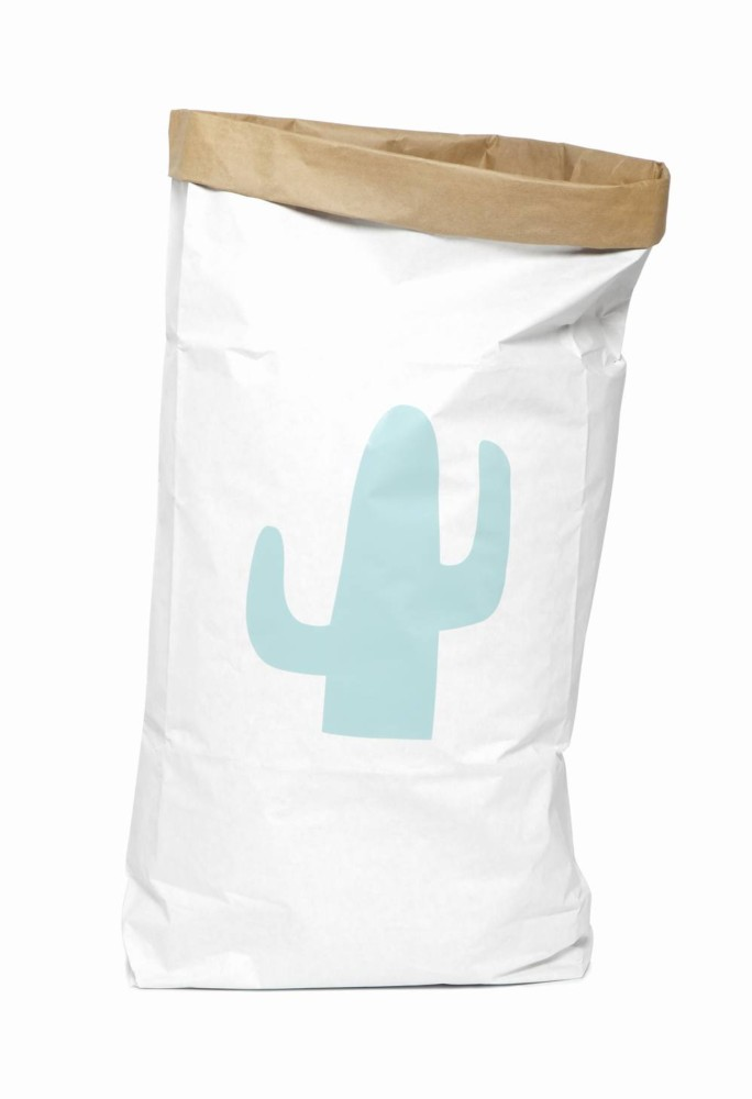 Saco organizador de papel grande cactus menta original - Ítem2