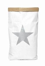 Saco organizador de papel grande estrella plateada original