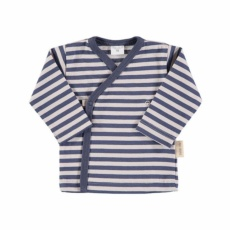 Camiseta cruzada raya azul t.0-3m