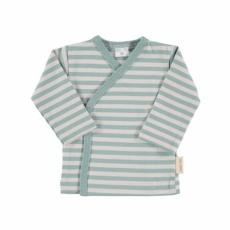 Camiseta cruzada raya verde t.0-3m