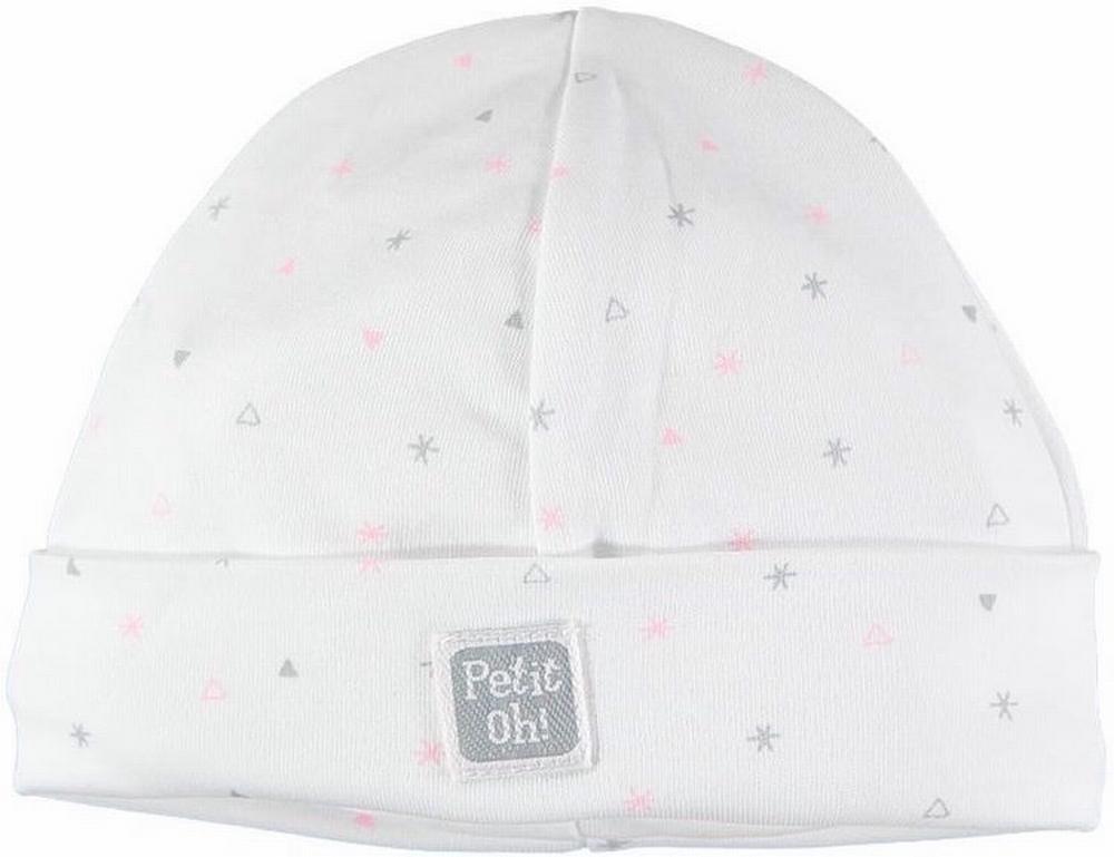 Gorro NB estrella rosa