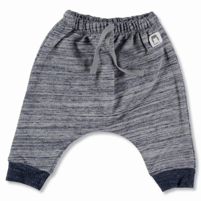 Navy cotton fleece pantsT6-9m