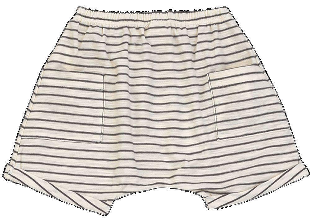 Pantalon corto rayas cacao - Ítem1