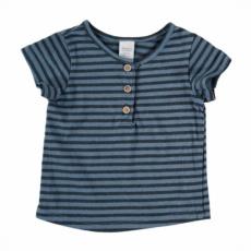 Camiseta mc mahón rayas azul