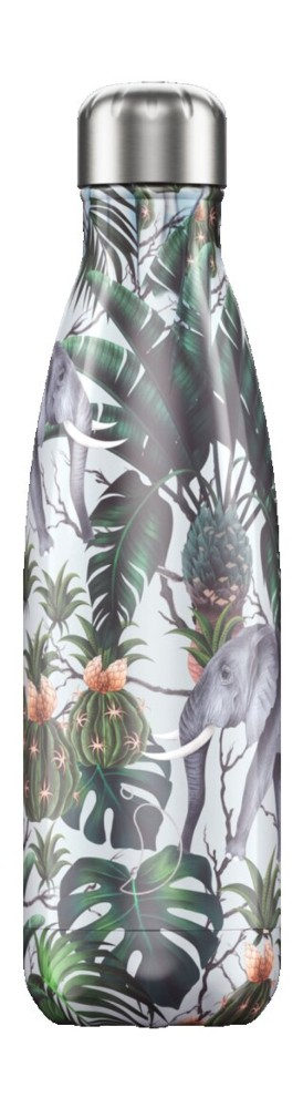 Botella termo líquidos tropical verde 500ml
