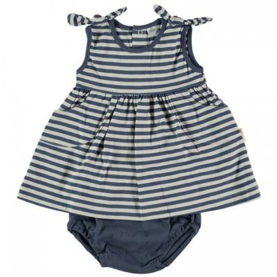 Vestido sin mangas arlet en rayas azul