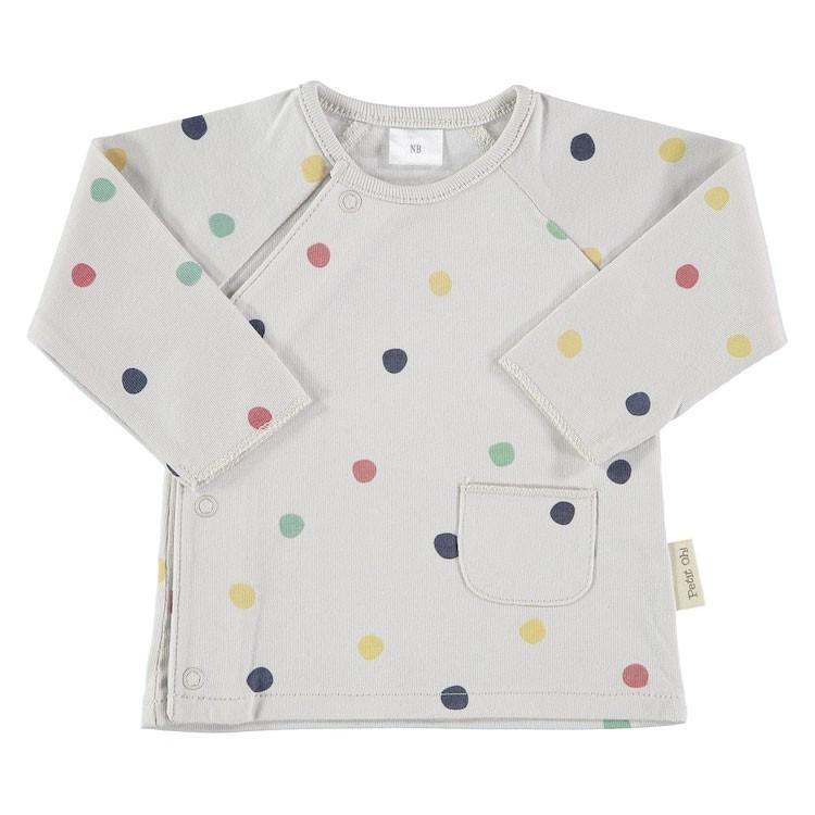 Camiseta cruzada confeti t.0-3m
