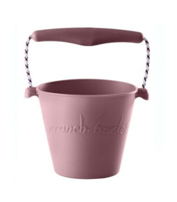 Cubo silicona enrollable Scrunch rosa pastel