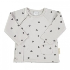 Camiseta cruzada dots beige t.0-3m