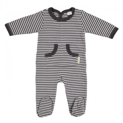 Pijama urban rayas grafito en t.0-3m Petit oh