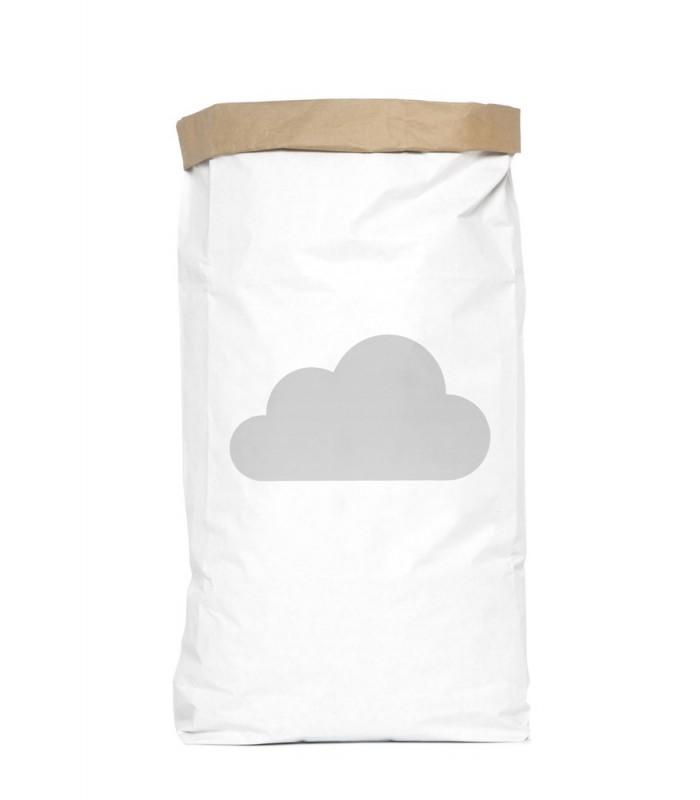 Saco organizador de papel grande nube original