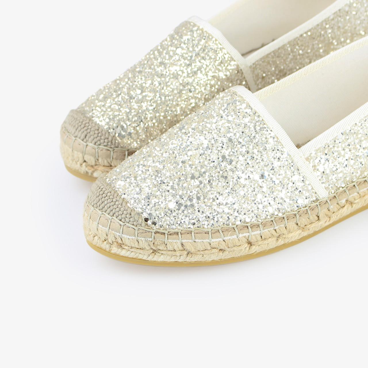 Alpargata Yute Brillo Blanco Glitter - Ítem2