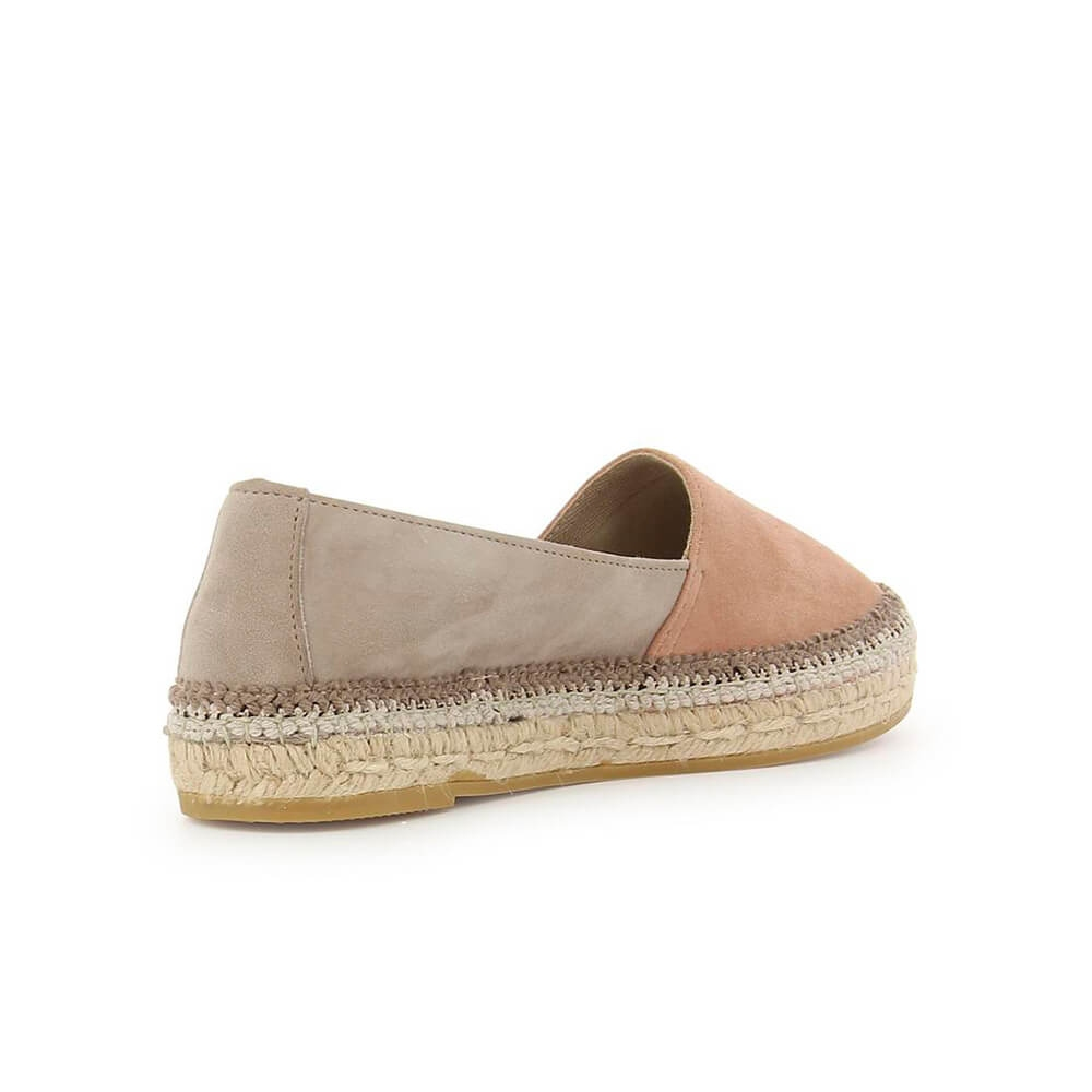 Two-coloured Pink Suede Leather Jute Espadrille - Item2