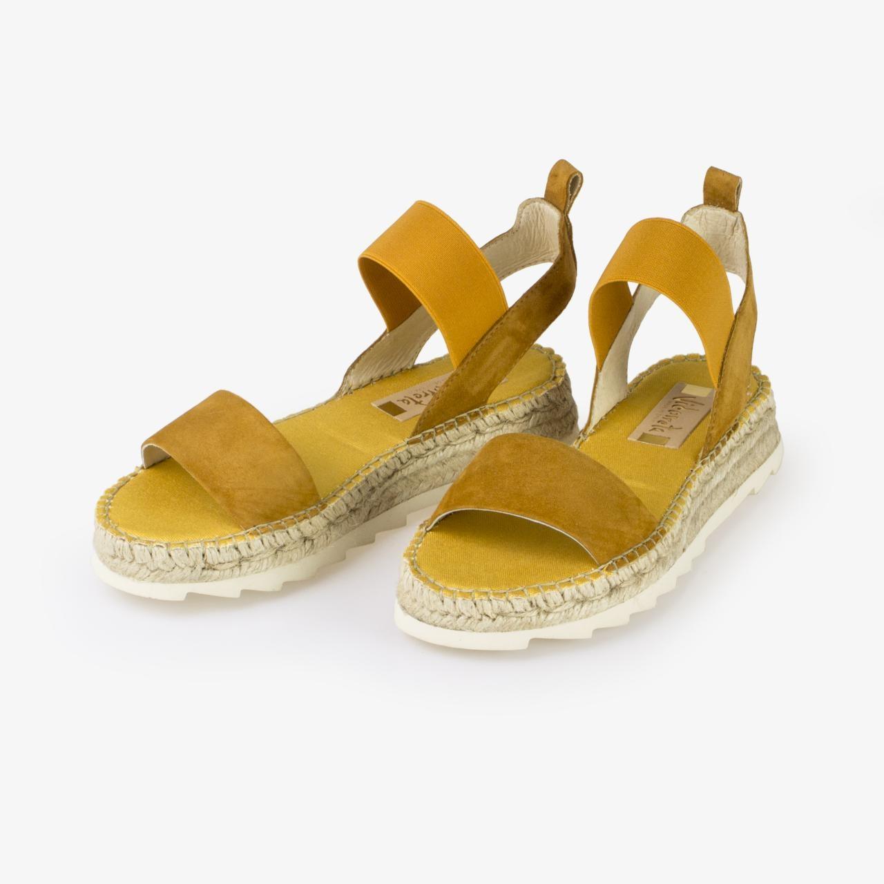 Sandalia Yute Piel Amarilla - Ítem1