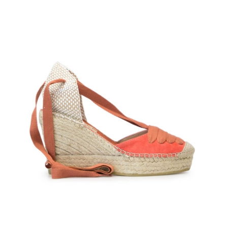 e37163fef Lace -up Red Suede Jute Wedge Espadrille