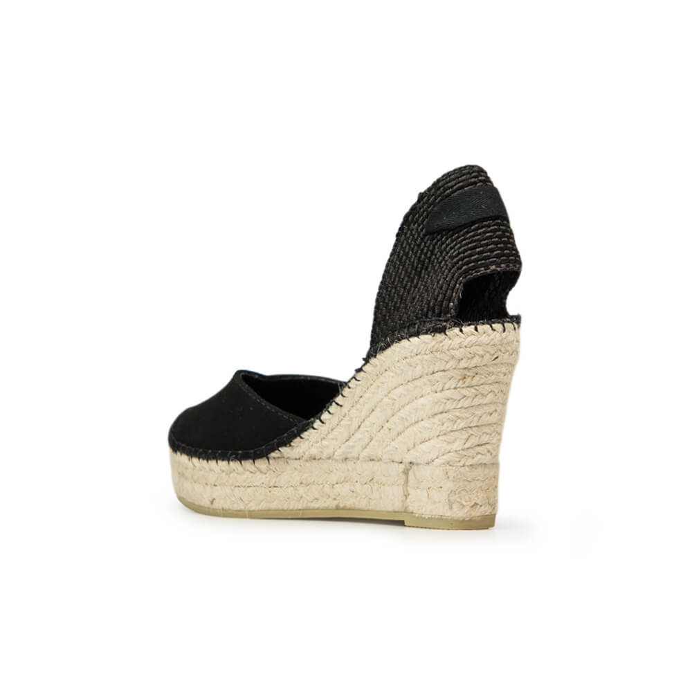 0431333a586 Lace-up Black Suede Jute Wedge Espadrille