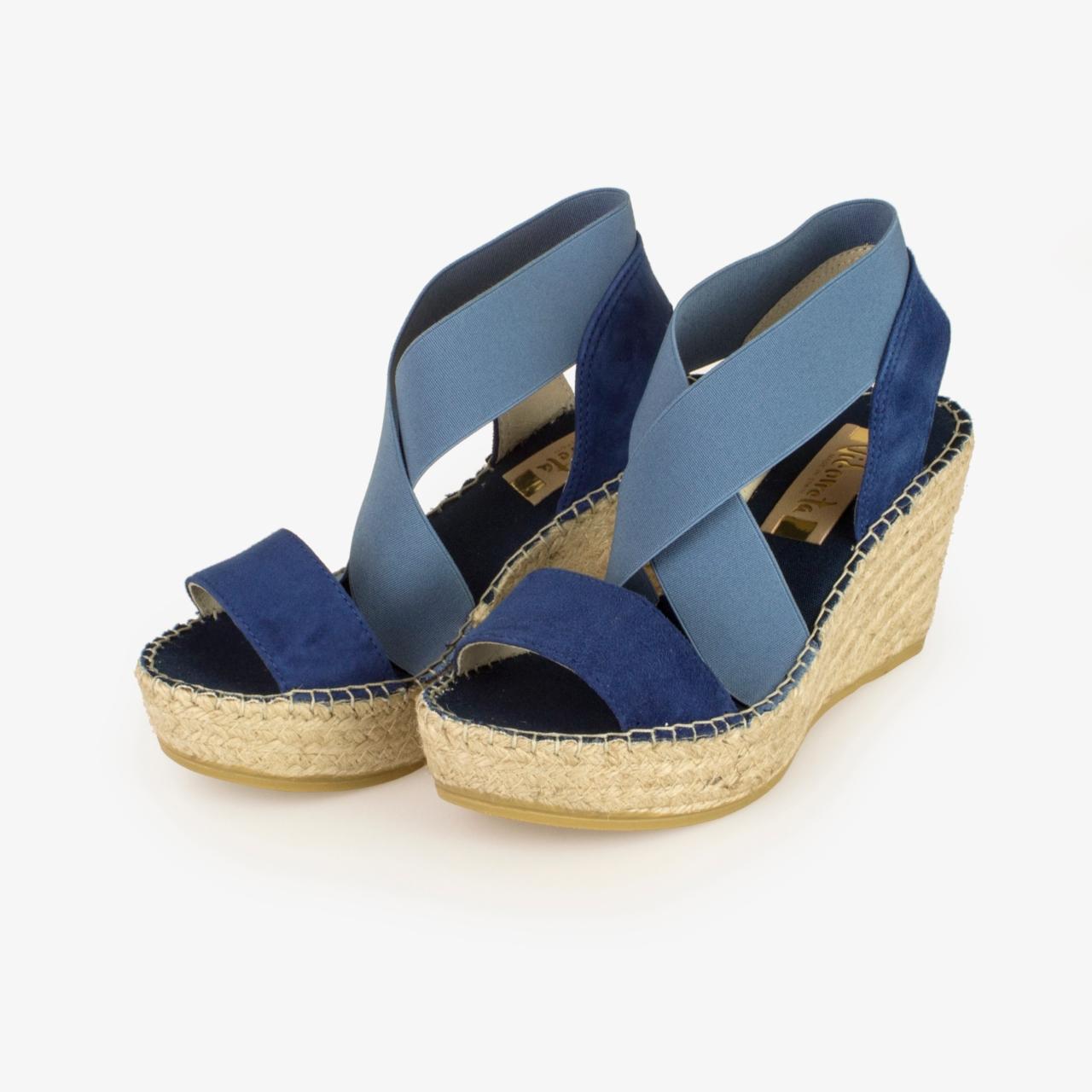 Sandalia Cuña Yute Azul - Ítem1