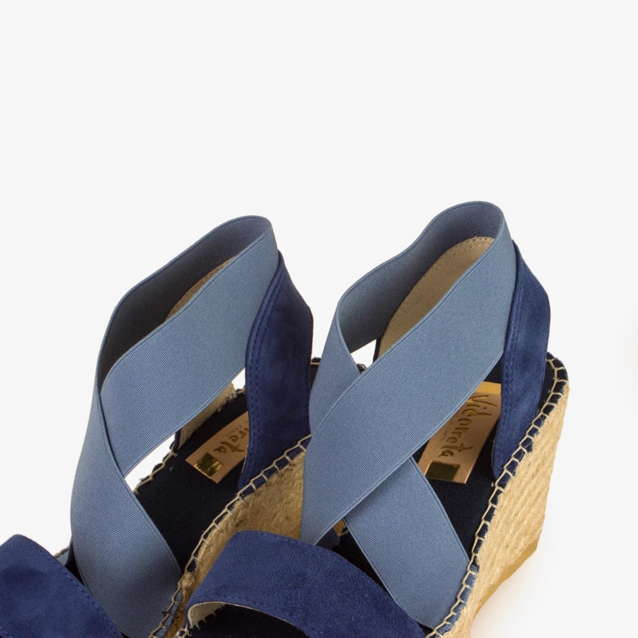 Sandalia Cuña Yute Azul - Ítem2