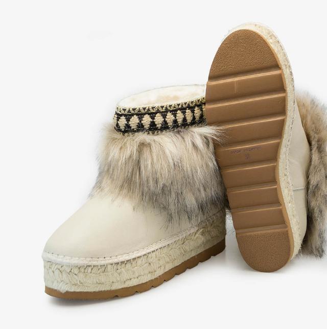botín de invierno en piel de serraje