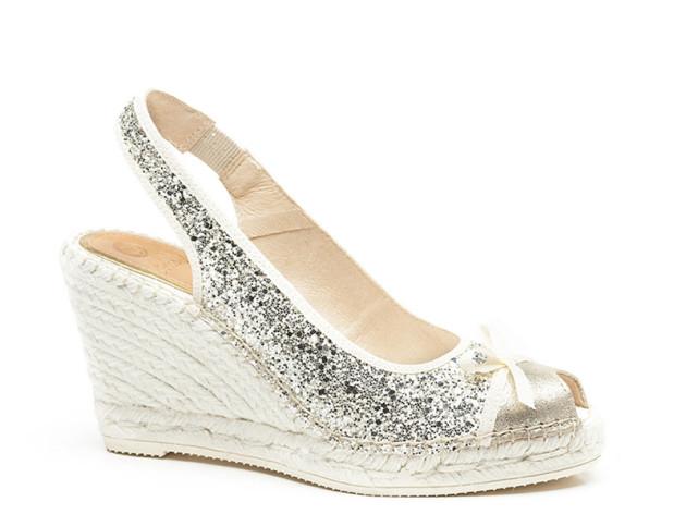 Bridal Glitter Espadrilles by Vidorreta