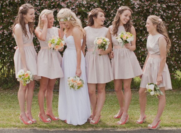Bridesmaids in espadrille wedges