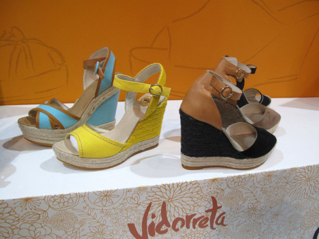 Jute Wedge Shoes bicolor Vidorreta