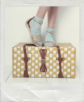 Alpargatas con calcetines Vidorreta