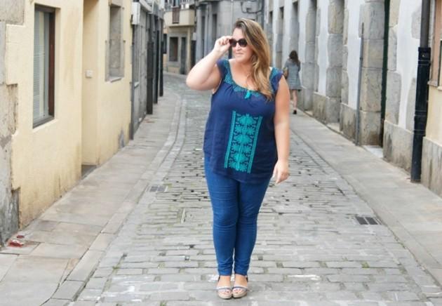 skinny jeans fashion- plus size- street style