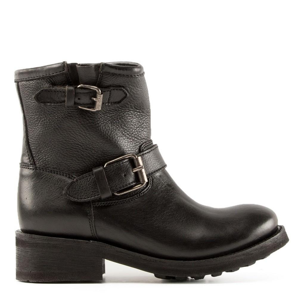 74304291efc TEARS Biker Boots Black Leather
