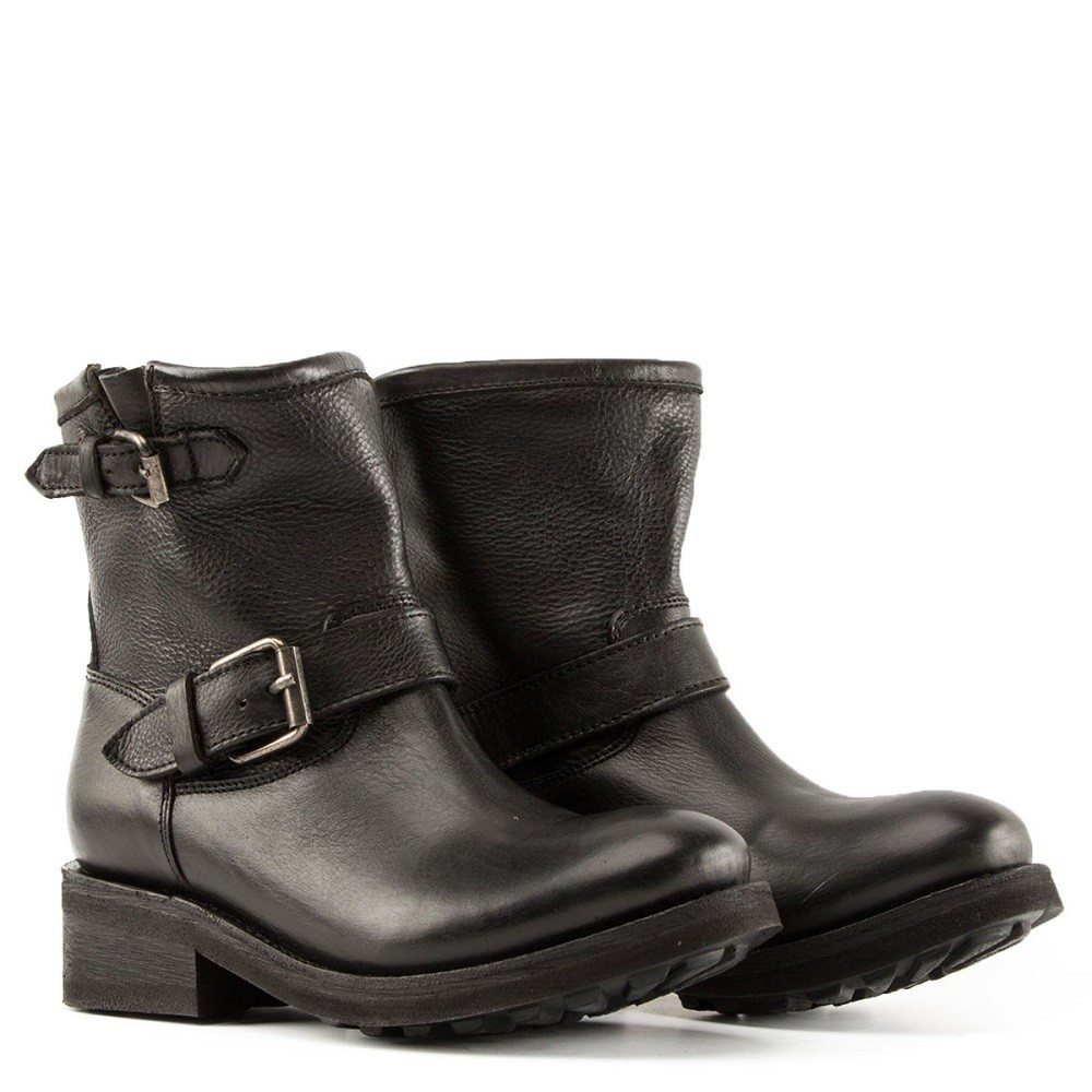TEARS Biker Boots Black Leather - Item1