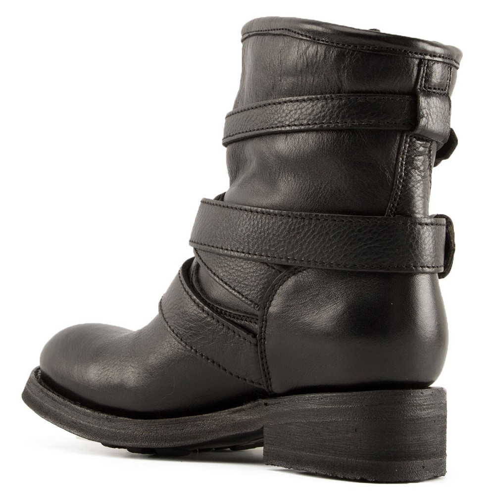 TRAPS Buckles Biker Boots Black Leather - Item3