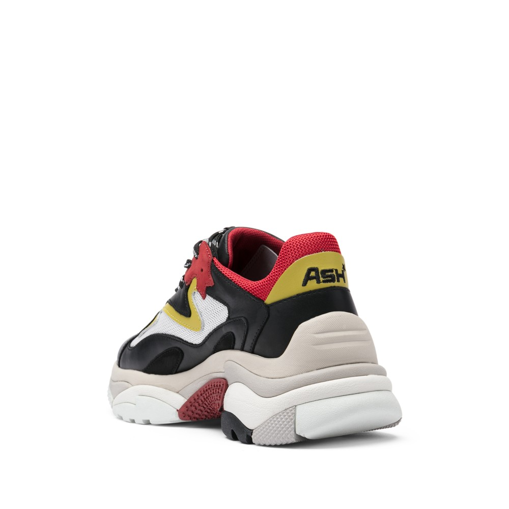 ADDICT XXL Trainers Black Leather & Red Mesh - Item2