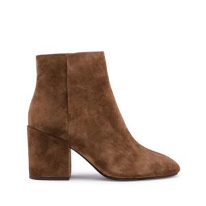 EDEN Ankle Boots Russet Suede & Block Heel