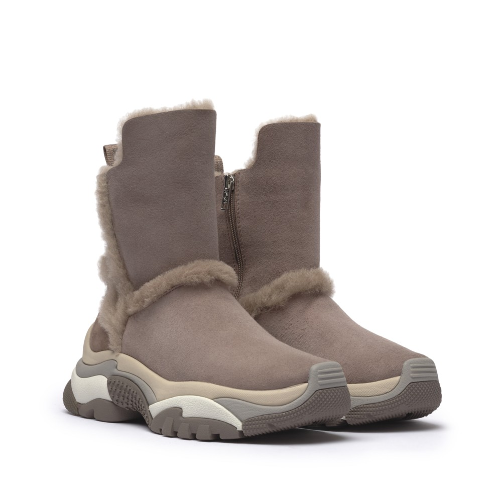 ALPES Shearling Straight Taupe/Baby Soft Taupe - Ítem1