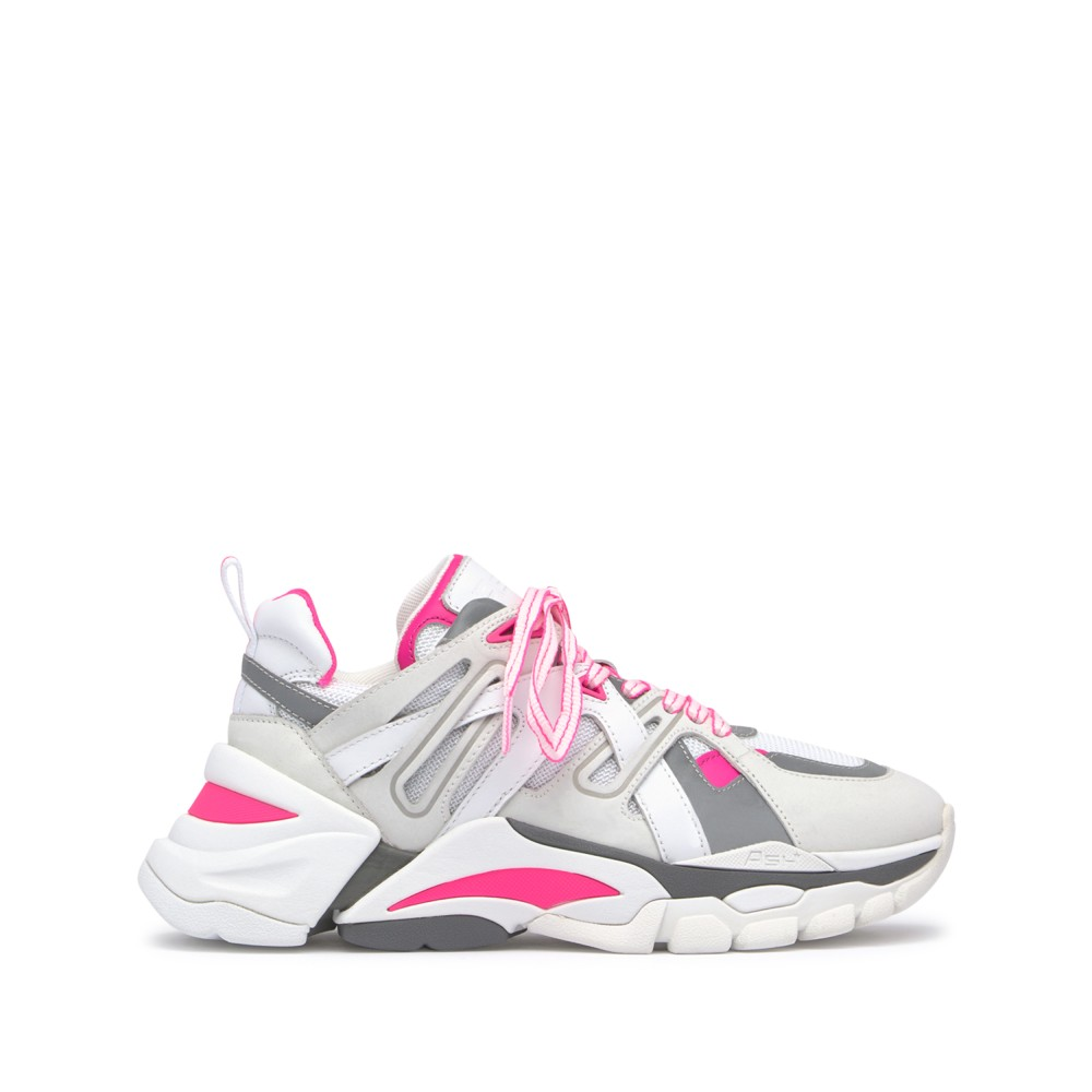 FLASH Nubuck White/Silver/Soft Brasil Fluo Pink