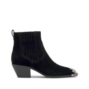 4c3d0225853 FLOYD Cowboy Ankle Boots Black Suede