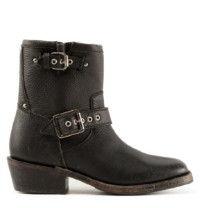 NEVADA Biker Boots Black Leather