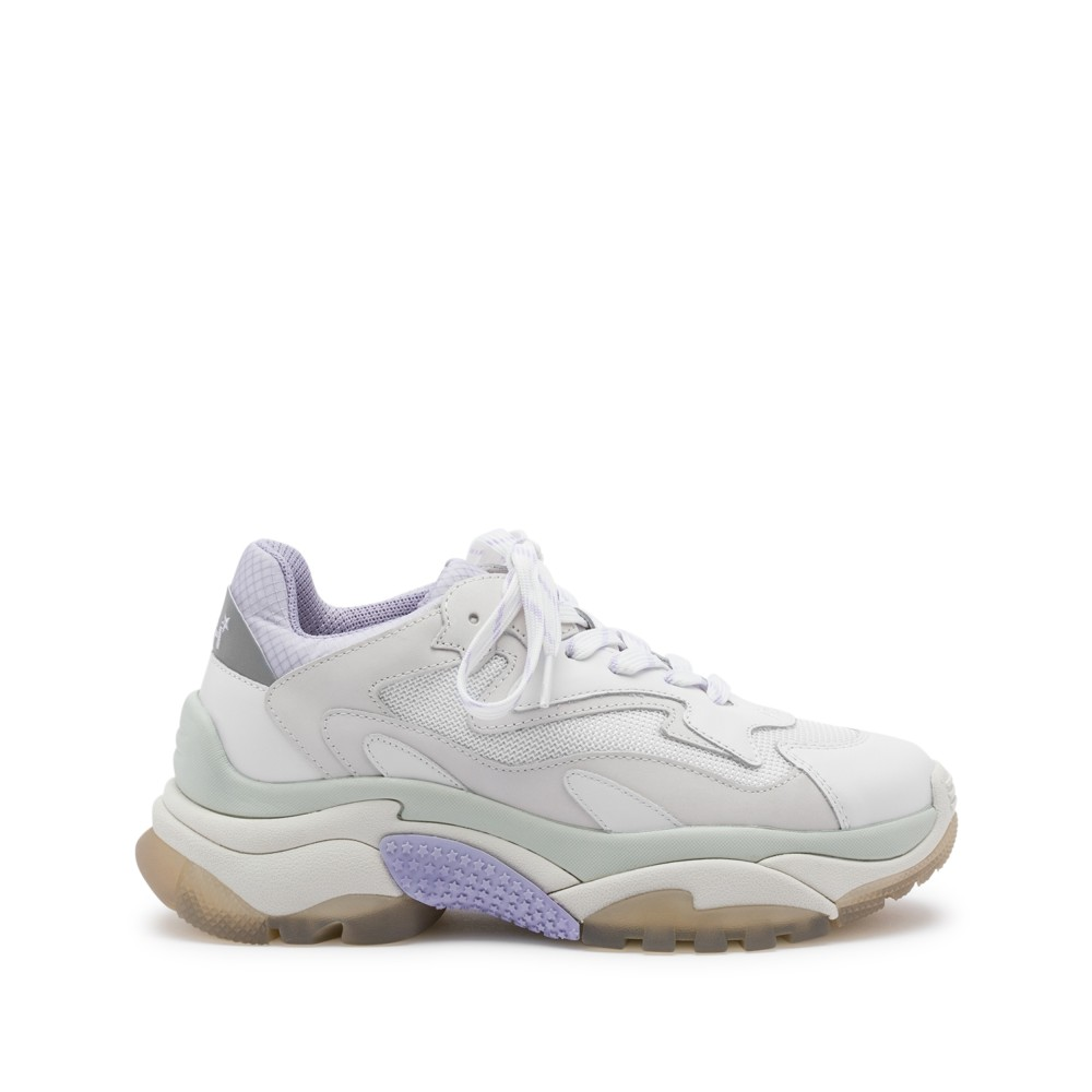 ADDICT XXL Trainers White Leather & Lavender Mesh - Item