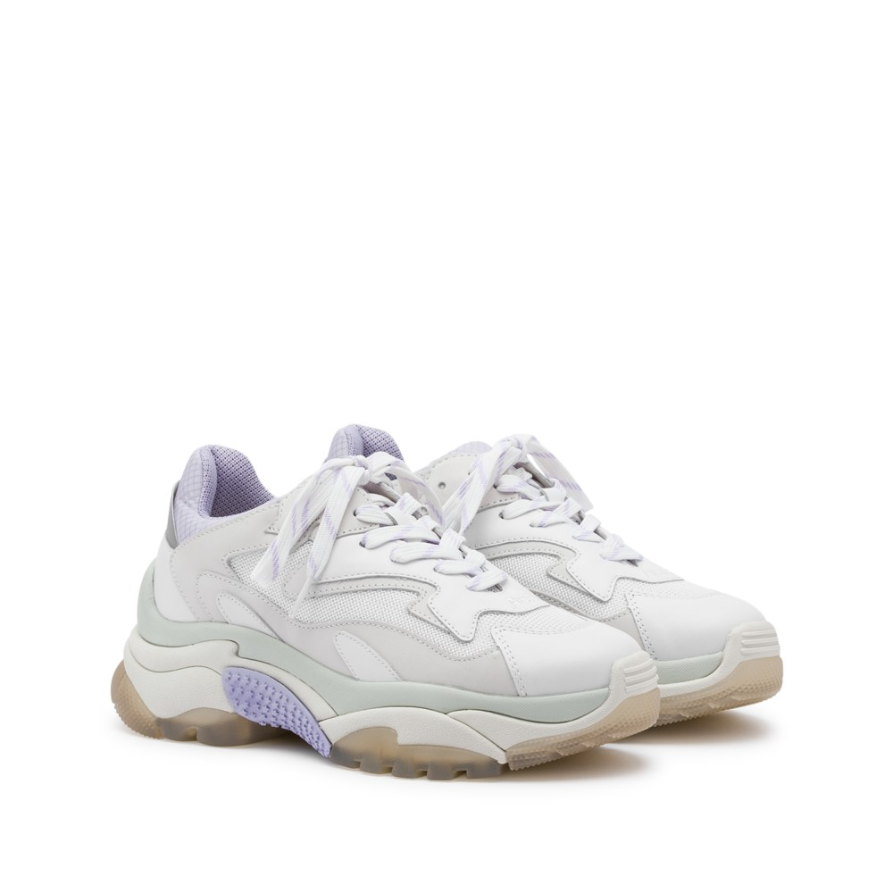 ADDICT XXL Trainers White Leather & Lavender Mesh - Item1