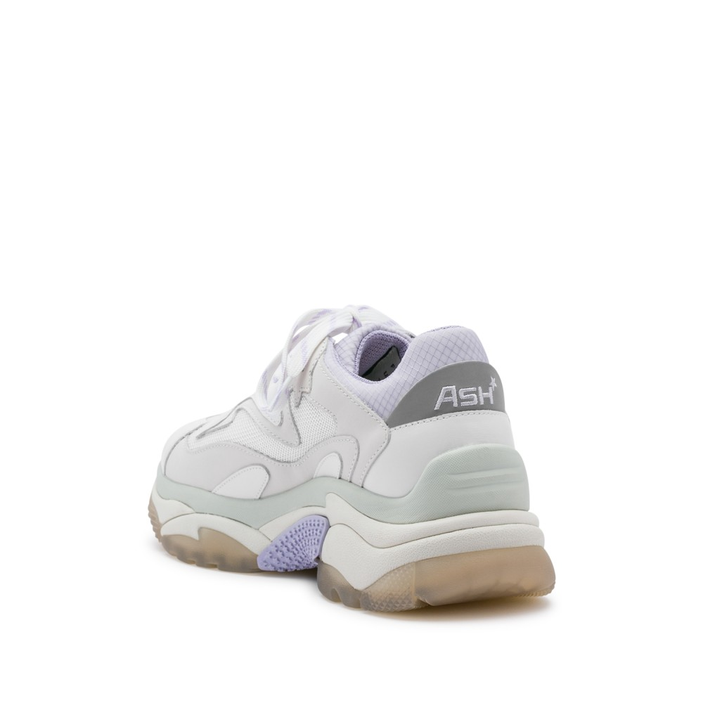 ADDICT XXL Trainers White Leather & Lavender Mesh - Item2