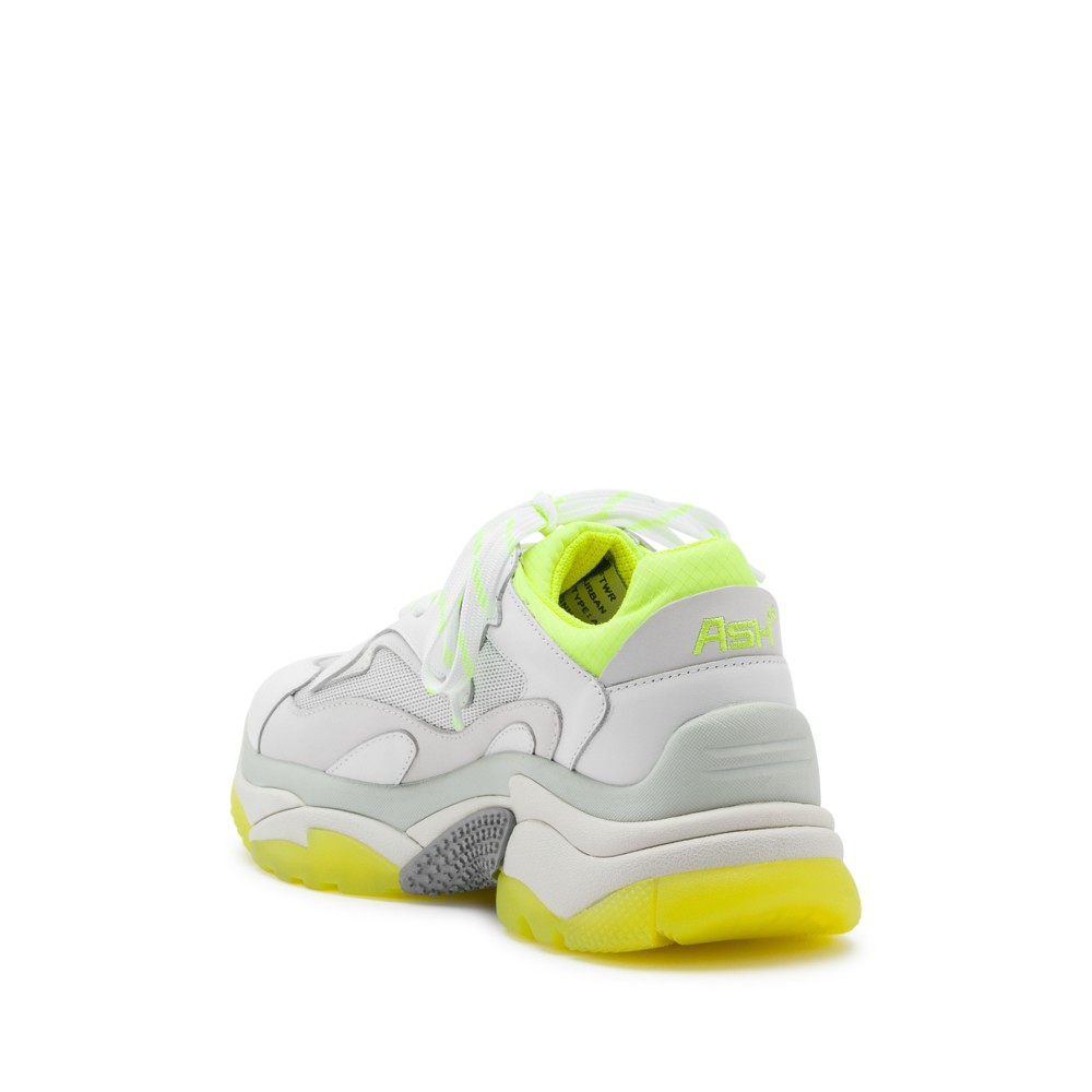 ADDICT XXL Trainers White Leather & Yellow Fluo - Item2