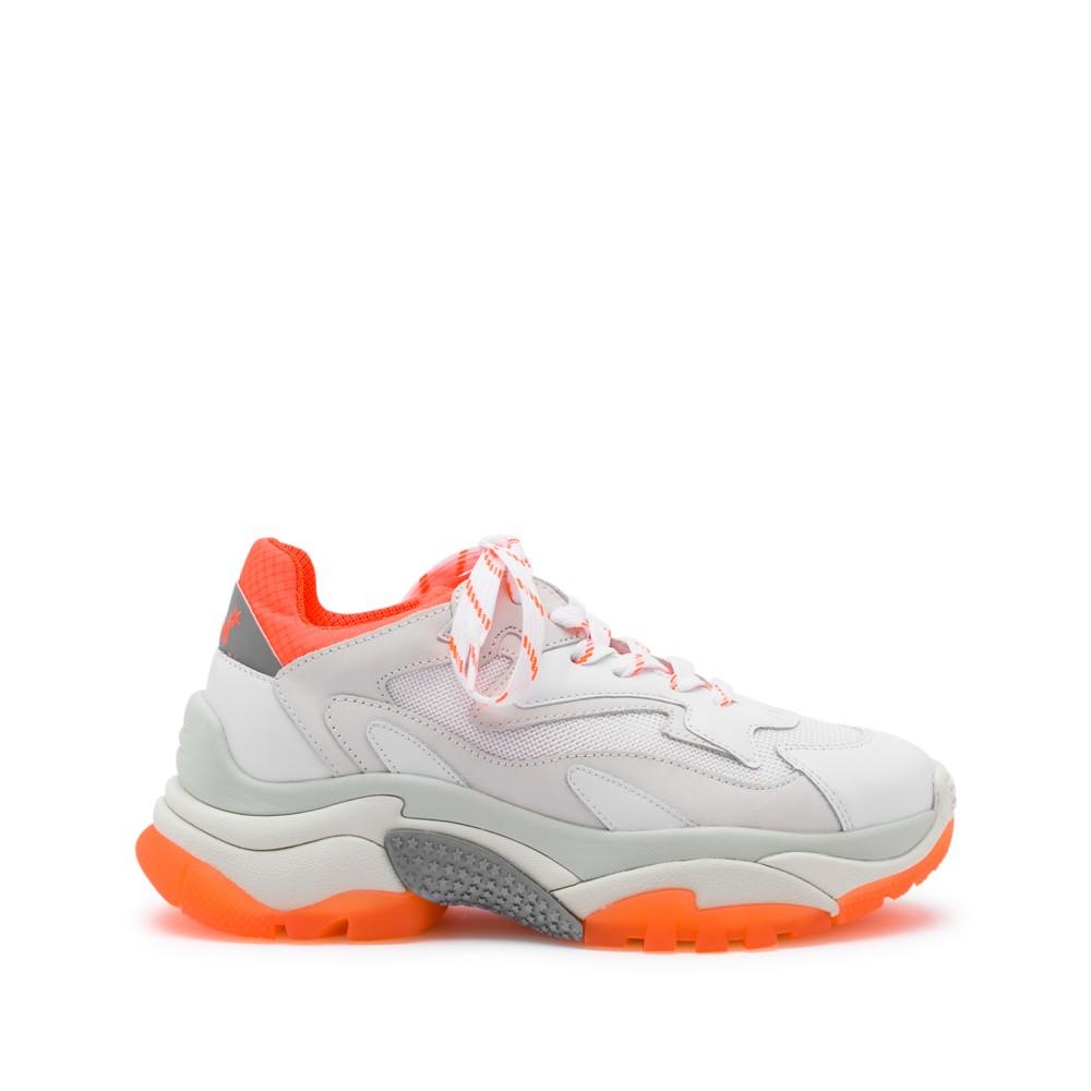 ADDICT XXL Trainers White Leather & Orange Fluo - Item