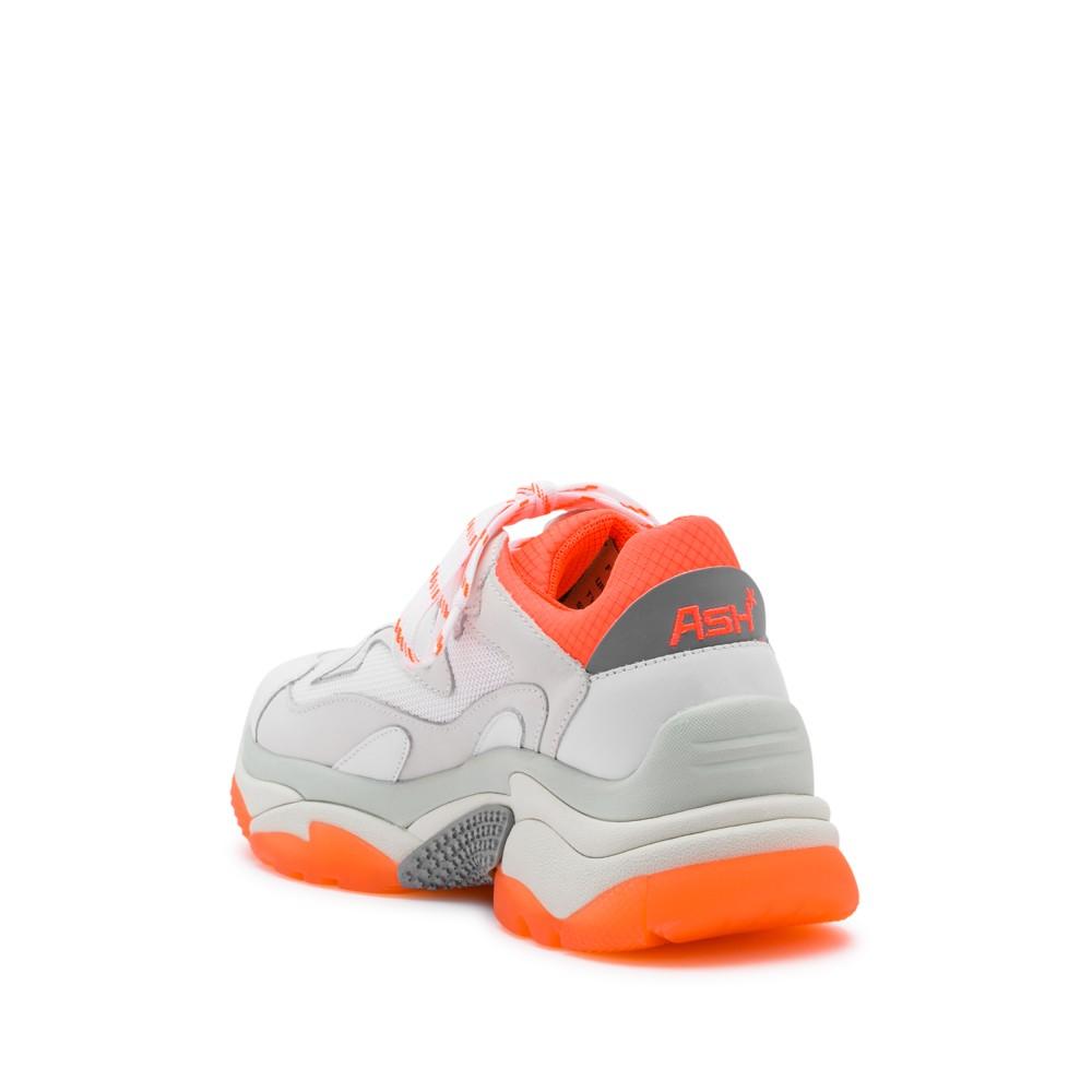 ADDICT XXL Trainers White Leather & Orange Fluo - Item2