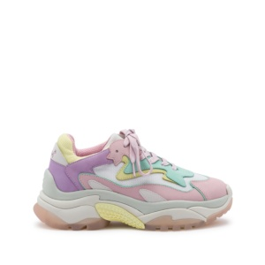 ADDICT BIS XXL Trainers Nubuck Baby Rose/Mint/Lilla
