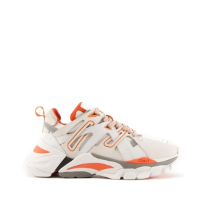 FLASH Nubuck White/Orange Nappa White