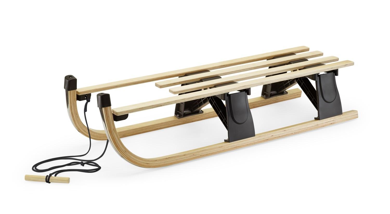 Trineo plegable de madera, colección de invierno