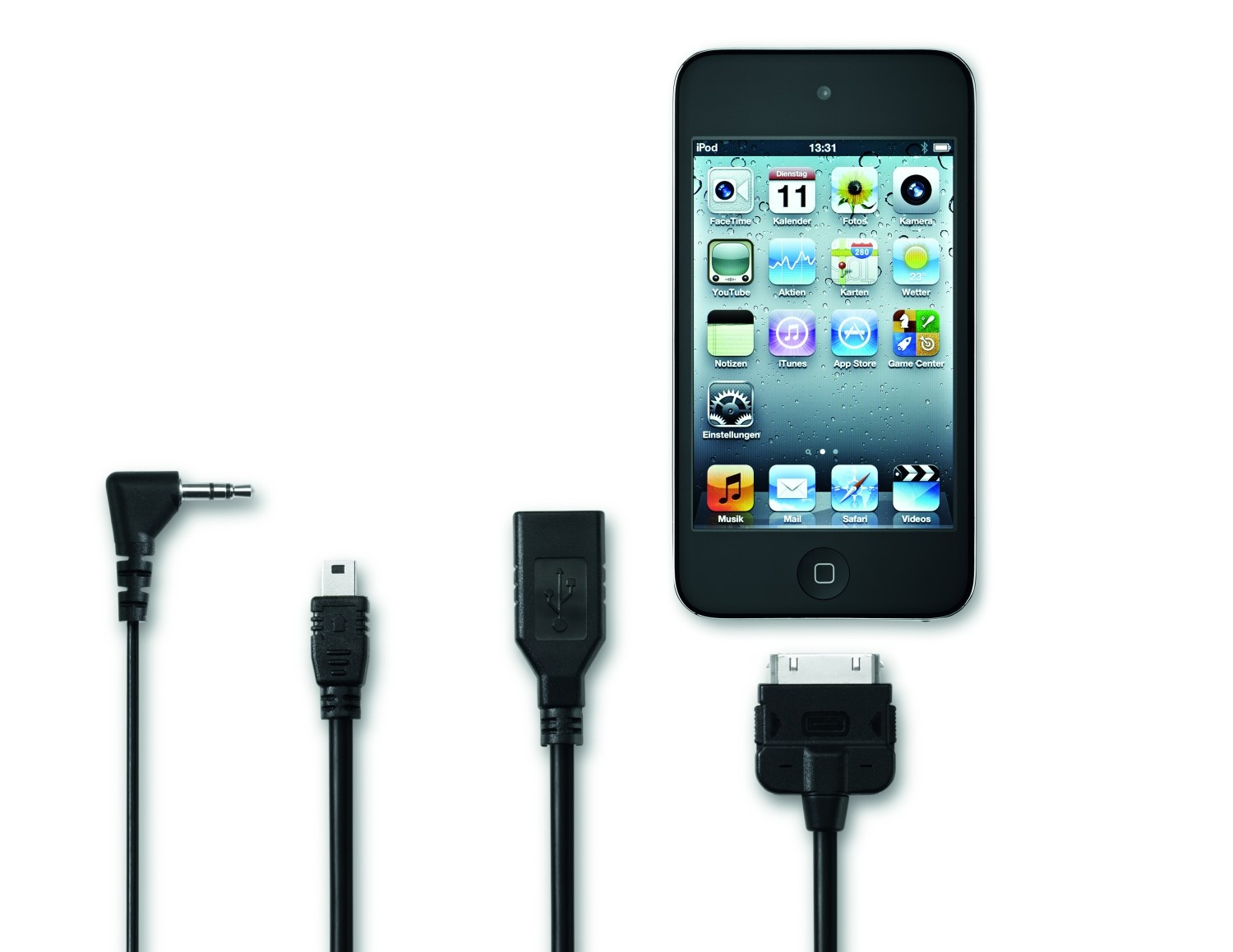 Adaptador para enchufe multimedia Media-In iPod, versión alargada 25 cm - Ítem1