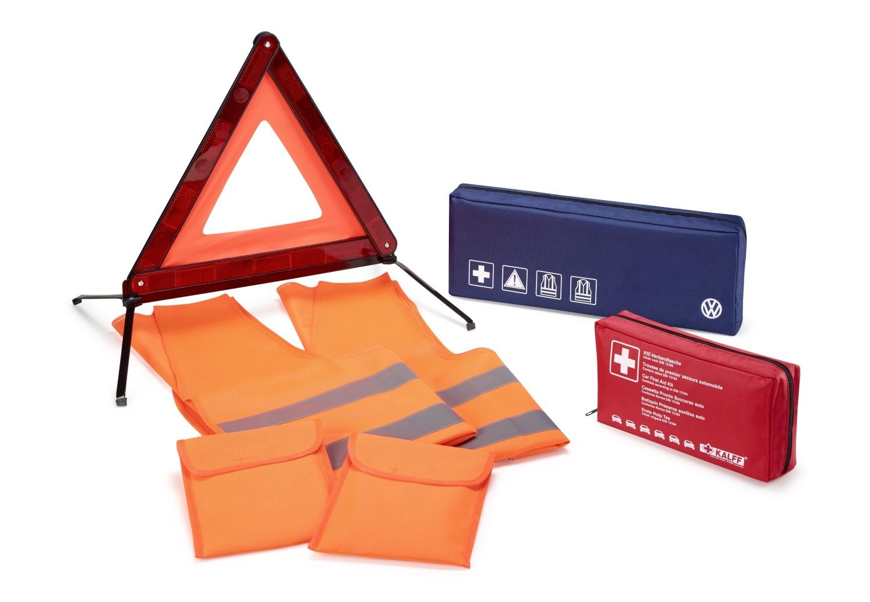 Paquete de seguridad para asistencia en carretera 1 triángulo de emergencia, 2 c
