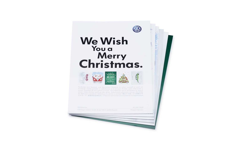 Juego de postales navideñas Volkswagen