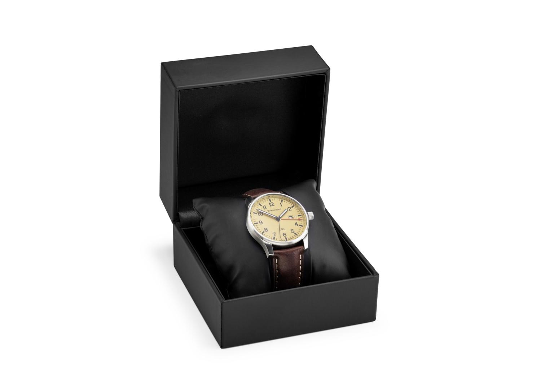 Reloj de pulsera para caballero, dos zonas horarias - Ítem - 1